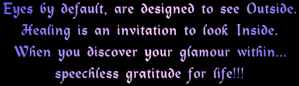 Healing is an invitation to discover glamour within